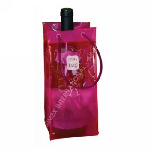 Champagnekoeler of wijnkoeler Ice Bag Design Collection Pink