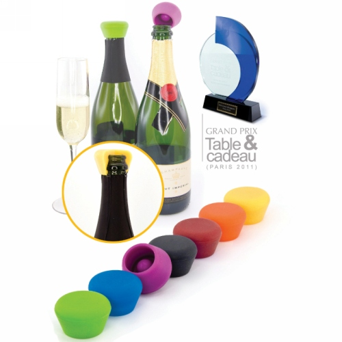 Set van 2 silicone champagnestoppers